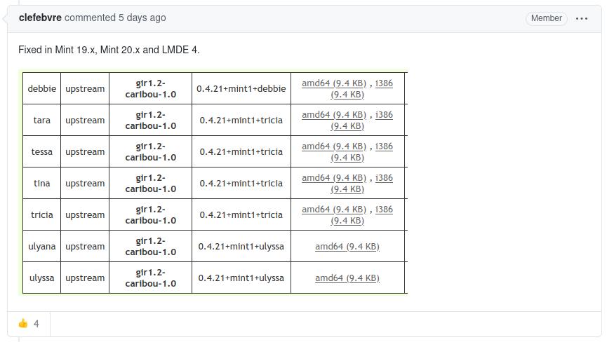 Los parches actualizados se publicaron en los comentarios del informe. Foto: GitHub.